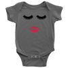 Lips & Lashes Baby Onesie (strawberry shortcake) 8 Colors AVAILABLE Size: Newborn - 24M - Infant Jersey Bodysuit - MADE IN THE USA