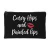 Curvy Hips and Painted Lips -  Travel Makeup Accessory Cosmetic Tote or Money Bag Size: Small or Large