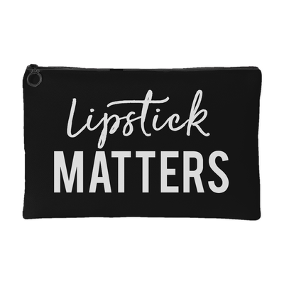 Lipstick Matters - Travel Makeup Accessory Cosmetic Tote or Money Bag Size: Small or Large