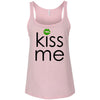 Kiss me St Patrick'ss day green lips - Ladies Relaxed Jersey Tank Top Women - Bella & Canvas - 6 colors available - PLUS Size S-2XL MADE IN THE USA