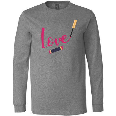 LOVE Lipsense Lip Color Swipe - Long Sleeve Tee Unisex Canvas Brand T-shirt - 5 colors available PLUS Size XS-2XL MADE IN THE USA
