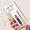 Ask Me About My Lipstick Lipsense Product 50 Lip Color Swatches Lipstick Women's Wallet Clutch Purse