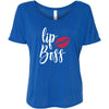 LipBoss + Lipsense 50 Shades Lip Color Swatches (Front & Back) Bella Brand Ladies Slouchy Tee Feminine Women T-shirt - 7 colors available PLUS Size S-2XL MADE IN THE USA