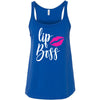 lip boss PINK - Lipstick Kiss Ladies Relaxed Jersey Tank Top Women - Bella & Canvas - 8 colors available - PLUS Size S-2XL MADE IN THE USA