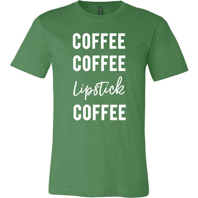 Coffee Coffee Lipstick Coffee - Bella & Canvas - O-neck Unisex Short Sleeve Jersey Tee - 12 Colors Available Plus Size XS-4XL - MADE IN THE USA