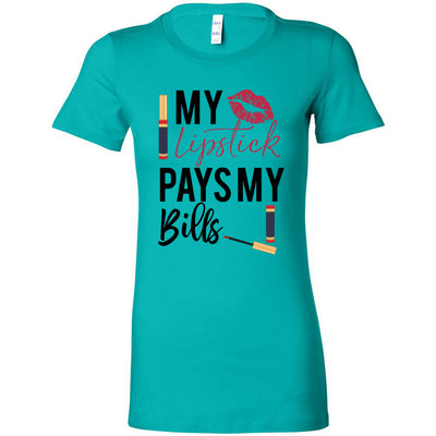 My Lipstick Pays my bills - Lipsense - Bella + Canvas - Women's Short Sleeve Feminine T-shirt - 12 Colors Available Plus Size S-2XL - MADE IN THE USA