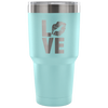 LOVE Lips - 30 oz Engraved / Etched Stainless Steel Tumbler Travel Mug | Hot or Cold | 7 Colors Available
