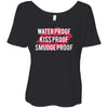 Waterproof-Kissproof-Smudgeproof - Bella Brand Ladies Slouchy Tee Feminine Women T-shirt - 6 colors available PLUS Size S-2XL MADE IN THE USA