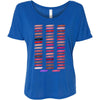 Lipsense 50 Shades Lip Color Swatches - Bella Brand Ladies Slouchy Tee Feminine Women T-shirt - 5 colors available PLUS Size S-2XL MADE IN THE USA