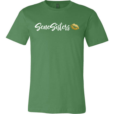 SeneSisters Gold Lips - Bella & Canvas - O-neck Unisex Short Sleeve Jersey Tee - 12 Colors Available Plus Size XS-4XL - MADE IN THE USA