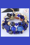 Layered Boho Bead & Charm Bangle Bracelet Wrap