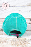 BOSS LADY Glitter baseball cap TURQUOISE BLUE hat