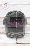 BOSS LADY Glitter baseball cap GRAY hat