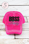 BOSS LADY Glitter baseball cap PINK hat