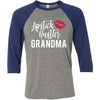 Lipstick Hustler Grandma - Unisex Three-Quarter Sleeve Baseball T-Shirt - Bella & Canvas - 8 Colors Available Plus Size XS-2XL - MADE IN THE USA