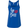 lipboss Red Lips - Lipstick Kiss Ladies Relaxed Jersey Tank Top Women - Bella & Canvas - 8 colors available - PLUS Size S-2XL MADE IN THE USA