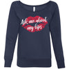 Ask me about my lips lipstick kiss print - Bella + Canvas - Women's Long Sleeve Sponge Fleece Wideneck Sweatshirt 5 Colors Available Size S-2XL - MADE IN THE USA