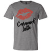 Lipstick Kiss Lips Print - Lipsense: CARAMEL LATTE - Bella & Canvas - O-neck Unisex Short Sleeve Jersey Tee - 8 Colors Available Plus Size XS-4XL - MADE IN THE USA