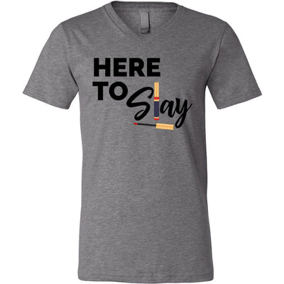 Here to Slay Lipsense - Bella & Canvas Lip Boss Unisex V-neck Jersey T-Shirt - 8 Colors Available Plus Size XS-3XL - MADE IN THE USA