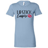 Lipstick Empire Red Lips Lipstick Kiss Print - Bella + Canvas - Women's Short Sleeve Feminine T-shirt - 15 Colors Available Plus Size S-2XL - MADE IN THE USA