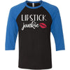 Lipstick Junkie - Unisex Three-Quarter Sleeve Baseball T-Shirt - Bella & Canvas - 8 Colors Available Plus Size XS-2XL - MADE IN THE USA