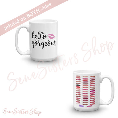Hello Gorgeous & Lipsense Lip Color Swatches Coffee Cup Mug 11oz | 15 oz