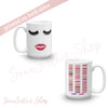 Lips & Lashes and Lipsense Lip Color Swatches Coffee Cup Mug 11oz | 15 oz