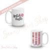 Lipstick Hustler & Lipsense Lip Color Swatches Coffee Cup Mug 11oz | 15 oz