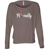 Fri-nally Lipsense Lipstick Lip Swipe - Off the Shoulder Long sleeve Flowy Feminine Wide Neck Tee - Bella Brand Shirt - 6 Colors Available Plus Size XS-2XL - MADE IN THE USA
