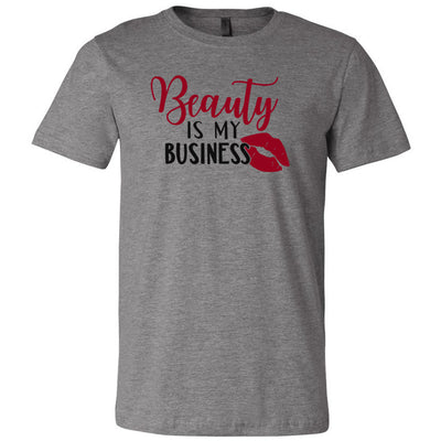 Beauty is my business Lipstick Kiss - Bella & Canvas - O-neck Unisex Short Sleeve Jersey Tee - 12 Colors Available Plus Size XS-4XL - MADE IN THE USA