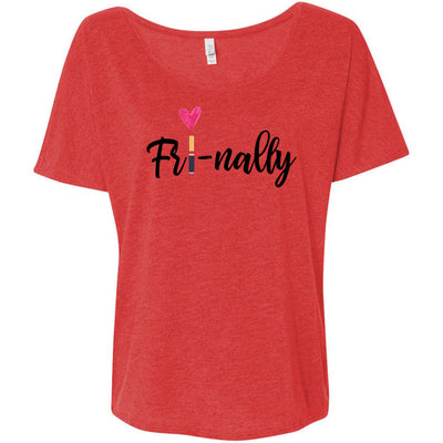 Fri-nally Lipsense Bella Brand Ladies Slouchy Tee Feminine Women T-shirt - 5 colors available PLUS Size S-2XL MADE IN THE USA