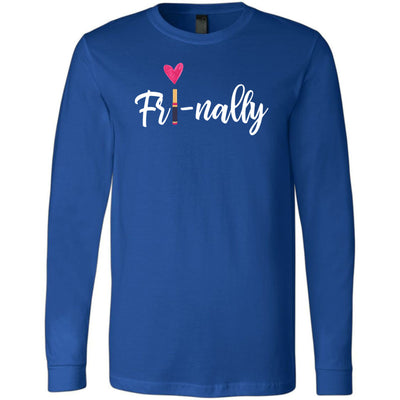Fri-nally Lipsense Long Sleeve Tee Unisex Canvas Brand T-shirt - 5 colors available PLUS Size XS-2XL MADE IN THE USA