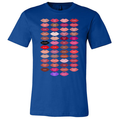 Lipsense 50 shades kisses Lipstick Lip Color Kiss - O-neck Unisex Short Sleeve Jersey Tee - 12 Colors Available Plus Size XS-4XL - MADE IN THE USA