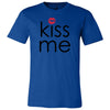 KISS ME red lips - O-neck Unisex Short Sleeve Jersey Tee - 12 Colors Available Plus Size XS-4XL - MADE IN THE USA