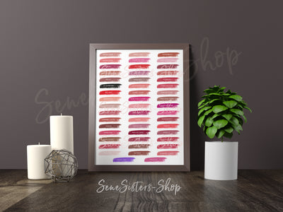 Lipsense 50 Lip Color Swatches Professional Prints (Print Only) + FREE Bonus Gift