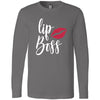 LipBoss - Long Sleeve Tee Unisex Canvas Brand T-shirt - 5 colors available PLUS Size XS-2XL MADE IN THE USA