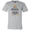 Chin Up Princess or the Crown Slips - Bella & Canvas - O-neck Unisex Short Sleeve Jersey Tee -12 Colors Available Plus Size XS-4XL - MADE IN THE USA