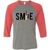 SMILE Lipsense - Unisex Three-Quarter Sleeve Baseball T-Shirt - Bella & Canvas - 16 Colors Available Plus Size XS-2XL - MADE IN THE USA