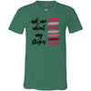 ask me about my stripes - Bella & Canvas Unisex V-neck Jersey T-Shirt - 6 Colors Available Plus Size XS-3XL - MADE IN THE USA