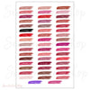 Lipsense 50 Lip Color Swatches 4x6 Flat Card