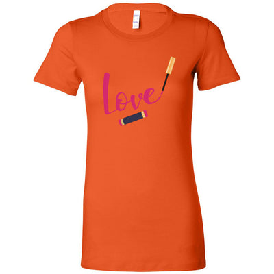 LOVE Lipsense Lip Color Swipe - Bella + Canvas - Women's Short Sleeve Feminine T-shirt - 16 Colors Available Plus Size S-2XL - MADE IN THE USA