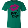 Lipstick Kiss Lips Print - Lipsense: PURPLE REIGN - Bella & Canvas - O-neck Unisex Short Sleeve Jersey Tee - 10 Colors Available Plus Size XS-4XL - MADE IN THE USA