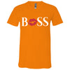 BOSS Lips - Bella & Canvas Unisex V-neck Jersey T-Shirt - 11 Colors Available Plus Size XS-3XL - MADE IN THE USA