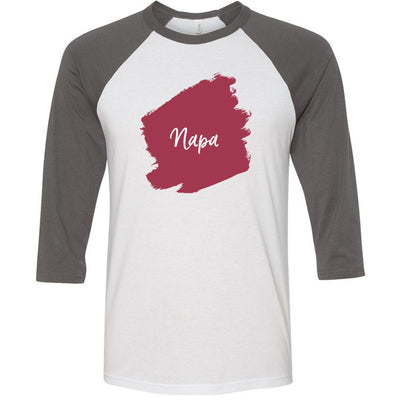 Lipsense NAPA Lip Color Lipstick Swipe - Unisex Three-Quarter Sleeve Baseball T-Shirt - Bella & Canvas - 16 Colors Available Plus Size XS-2XL - MADE IN THE USA
