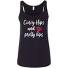 Curvy Hips and Pretty Lips - Ladies Relaxed Jersey Tank Top Women - Bella & Canvas - 7 colors available - PLUS Size S-2XL MADE IN THE USA