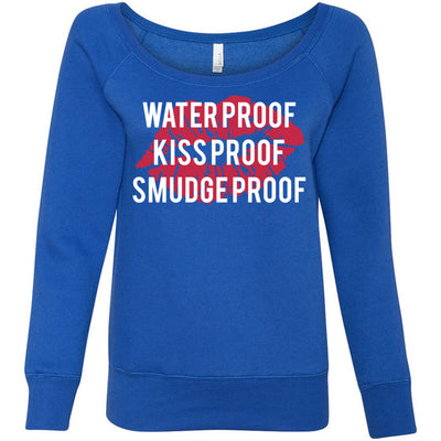 Waterproof-Kissproof-Smudgeproof - - Bella + Canvas - Women's Long Sleeve Sponge Fleece Wideneck Sweatshirt 6 Colors Available Size S-2XL - MADE IN THE USA