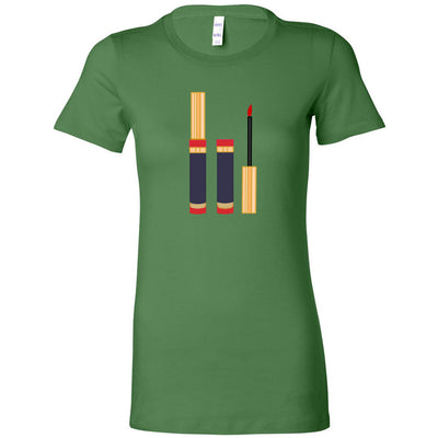Lipsense Lipstick Tube - open/closed - Bella + Canvas - Women's Short Sleeve Feminine T-shirt - 16 Colors Available Plus Size S-2XL - MADE IN THE USA
