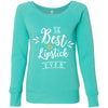 The Best Lipstick Ever - Bella + Canvas - Women's Long Sleeve Sponge Fleece Wideneck Sweatshirt 6 Colors Available Size S-2XL - MADE IN THE USA