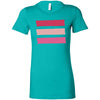 Shades of Pink Stripes - Bella + Canvas - Women's Short Sleeve Feminine T-shirt - 13 Colors Available Plus Size S-2XL - MADE IN THE USA