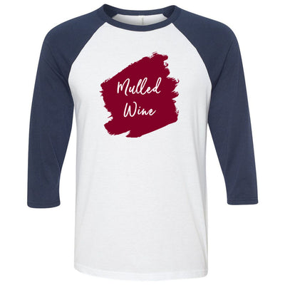 Lipsense MULLED WINE Lip Color Lipstick Swipe - Unisex Three-Quarter Sleeve Baseball T-Shirt - Bella & Canvas - 16 Colors Available Plus Size XS-2XL - MADE IN THE USA